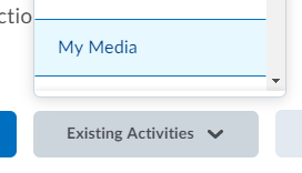 choosing existing activities and my media